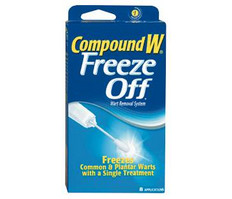 CompoundW Freeze Off or Wartner Freezing Wart Remover Limit 1 Rebate per brand Rebate only valid 7/10-7/16/11 See in store Single Check Rebates directory for details. Single Check Rebate offer requires sign up at riteaid.com/SCR or by mail. <br />price with wellness+ card