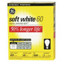 GE Soft White Longlife Light Bulbs 2 Pack, Wattage may vary by store, CFL Light Bulbs 1 Pack, Limit 4 per household<br />price with wellness+ card
